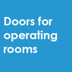 Doors for operating rooms