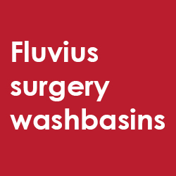 Fluvius surgery washbasins