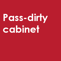 Pass-dirty cabinet