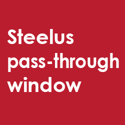 Steelus pass-through window